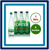 Fonter Agua Mineral Natural con Gas 6 x 1 liter